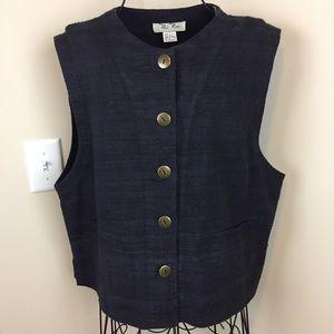 Paul Reid Charcoal Grey Raw Silk Vest
